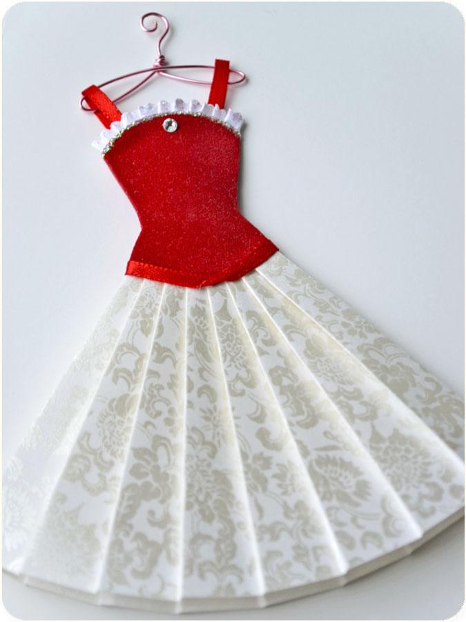 Открытка с платьем шаблон 161