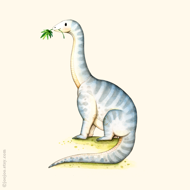 joojoo: M is for Melanorosaurus . Watercolor dinosaurs