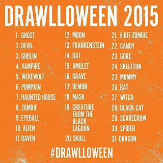 #Drawlloween challenge 2015