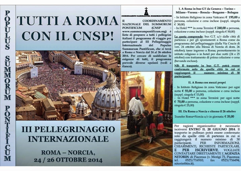 "III Pellegrinaggio del popolo ""Summorum Pontificum"""