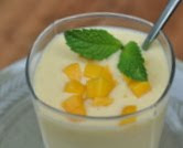 Mango Lassi with Fresh Mint