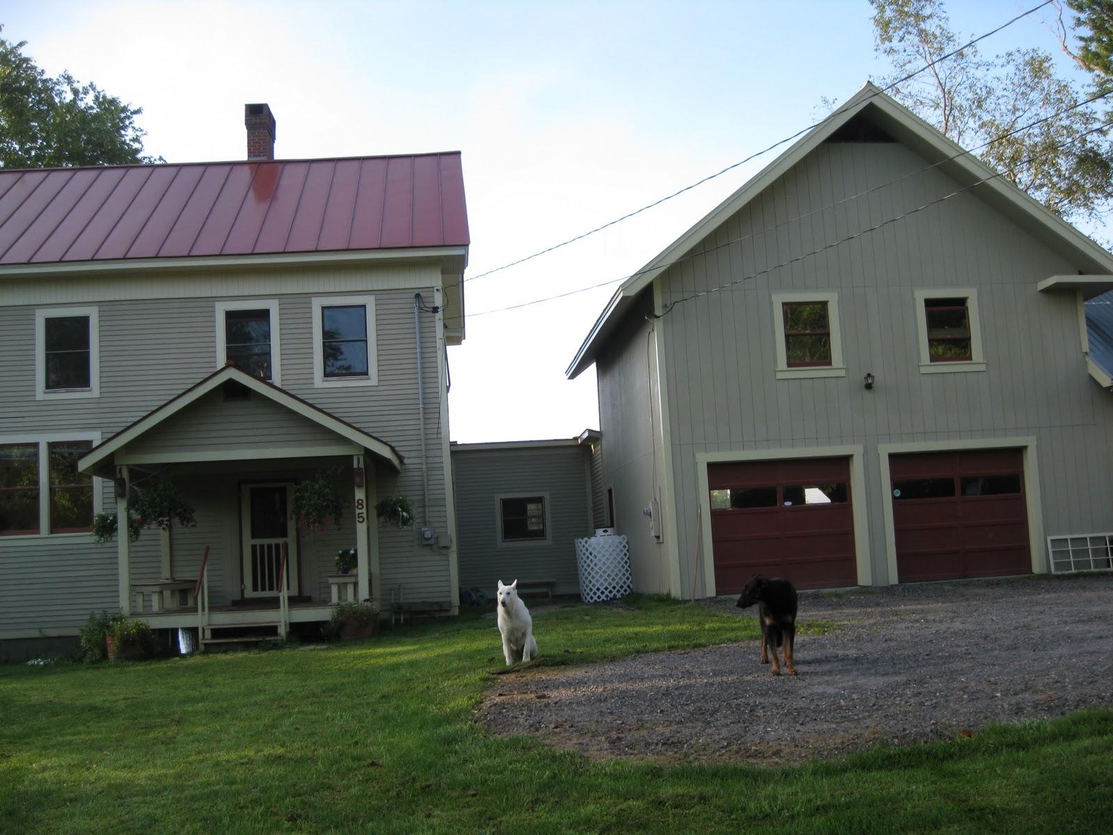Central vermont schoolhouse for Breezeway house