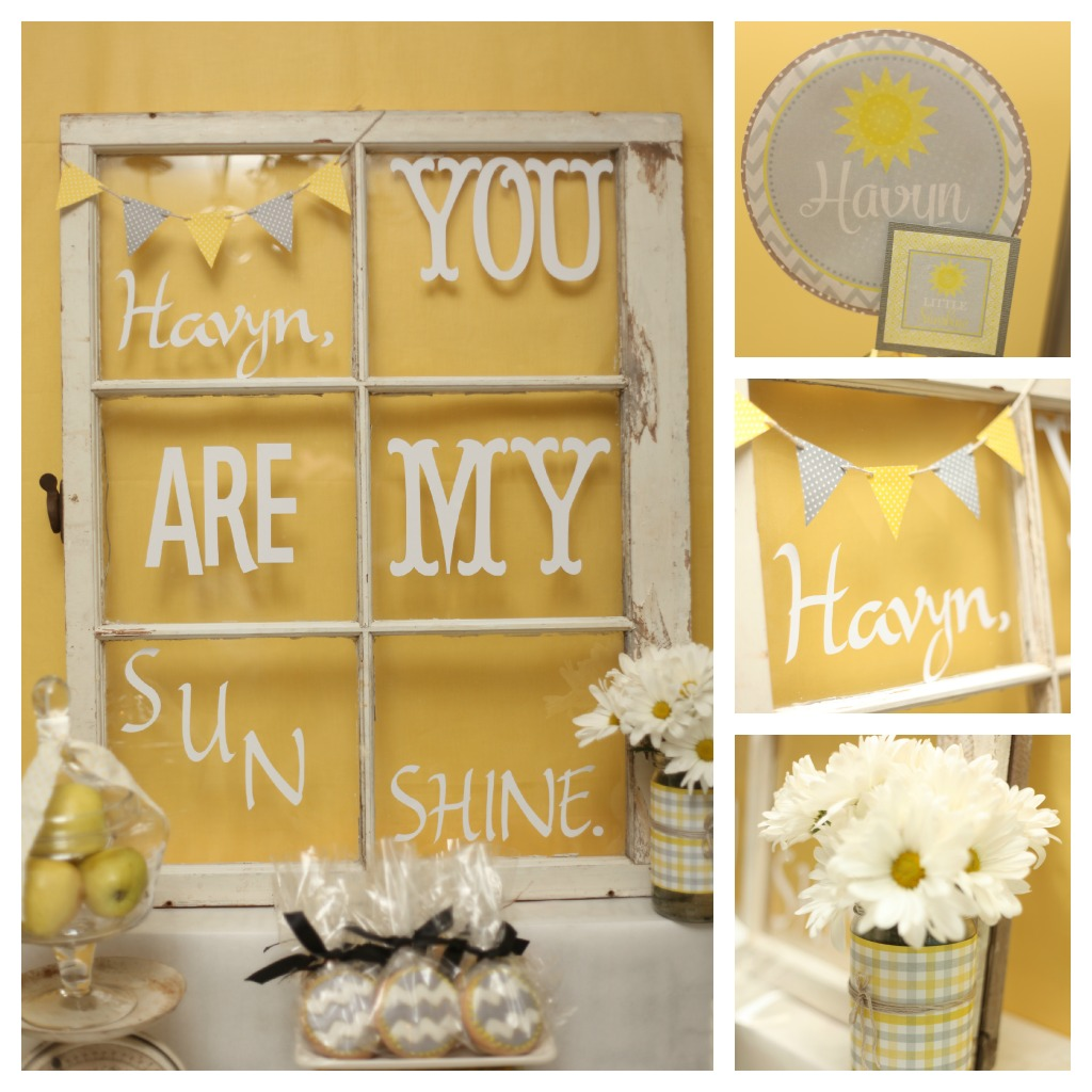 Yellow and Grey You Are My Sunshine Party Dimple Prints