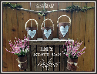 rustic tin cans makeover