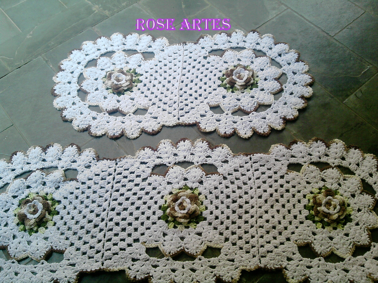 Arte Facil Tapete De Croche : Rose artes: Tapetes de Croche