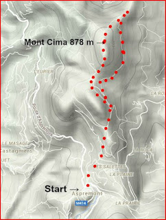 Image of trail to Mont Cima