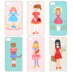 Illustrated Gadget Case by Weirdoinpink