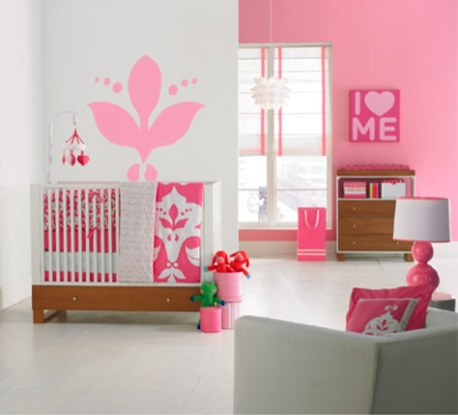 Another modern baby room decoration idea for your baby girl room.