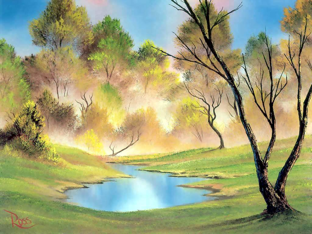 Fine art paintings wallpapers landscape wallpapers hd for Artiste nature