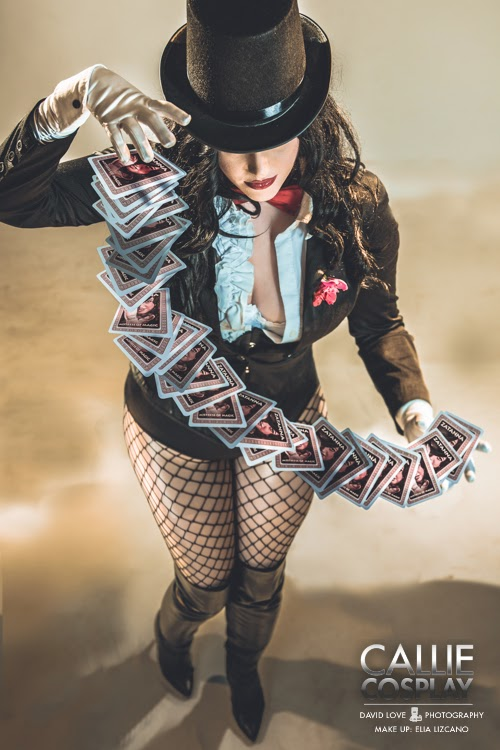 photo de Callie cosplay en zatanna