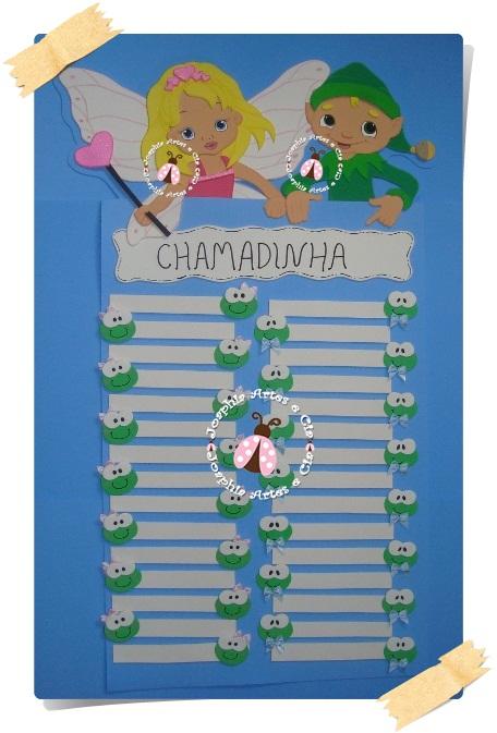 decoracao sala de aula jardim encantado:CARTAZ CHAMADINHA FADA E DUENDE EM E.V.A. – Encomenda Tia Soraya 6