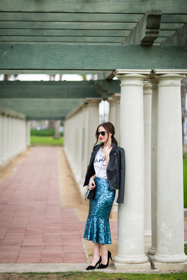 fancy tee with sequin skirt on M Loves M @marmar