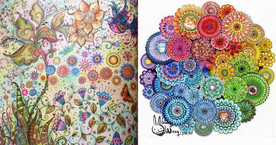 DE TUDO Jardim Secreto  a nova mania dos livros de colorir