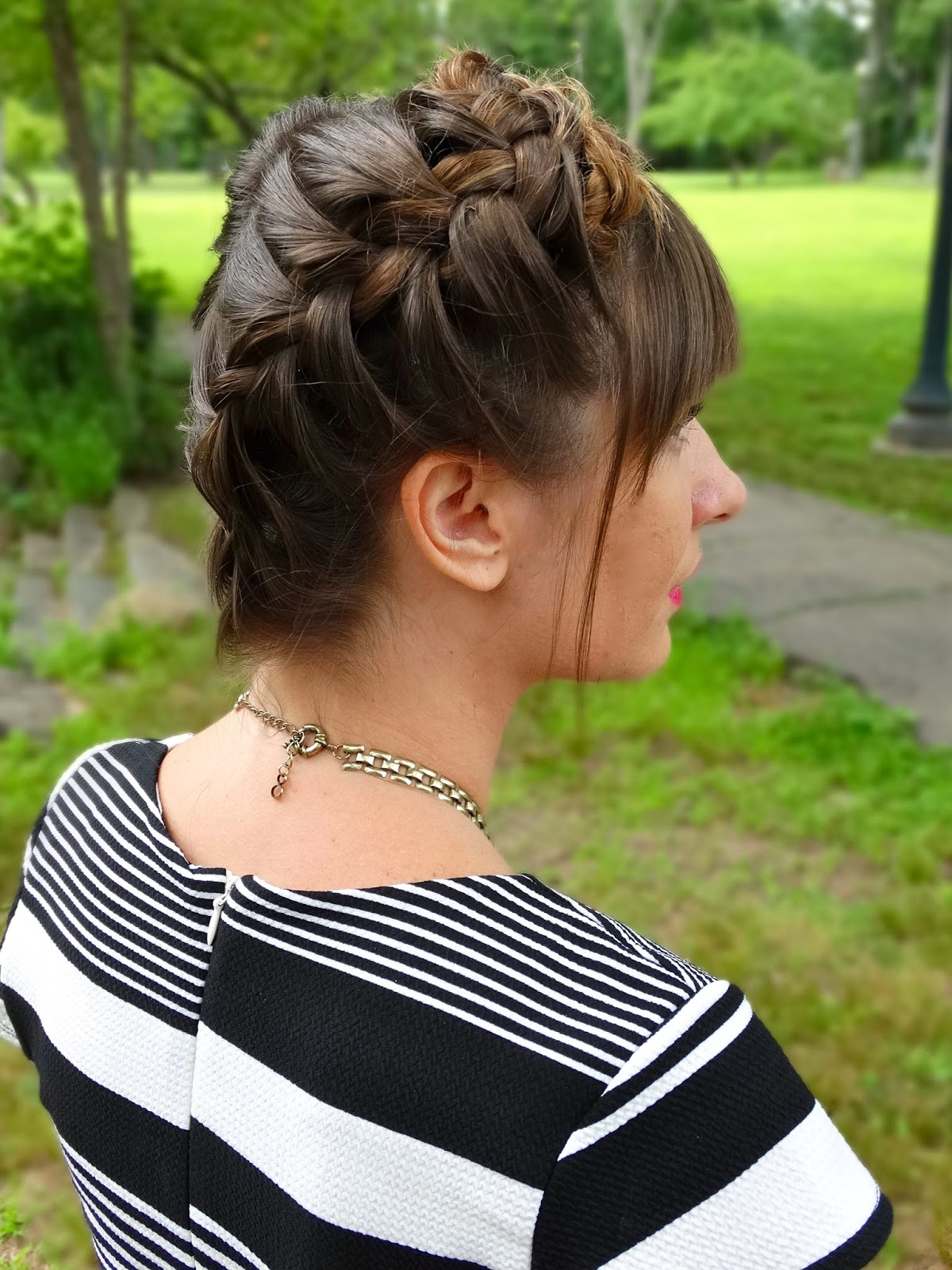 Milkmaid Braid Tutorial on House Of Jeffers | www.houseofjeffers.com