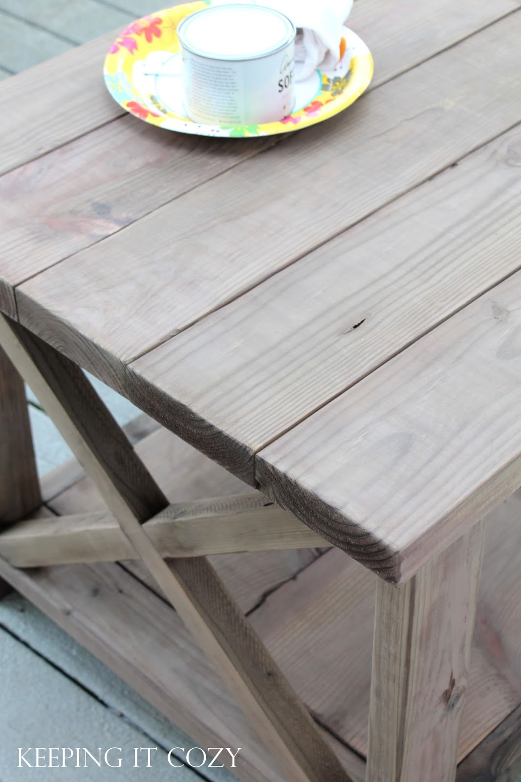 Above Is What The Table Looked Like After Doing The Finish Sanding. Donu0027t  You Love The Weathered Wood Look? Iu0027ve Never Been Fond Of Using Stain On  Pine, ...