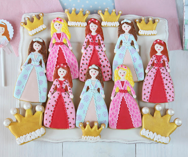 Galletas decoradas de princesas