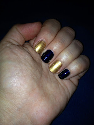Chanel, Chanel Le Vernis Nail Polish, Chanel nail polish, Chanel Gold Fiction, Chanel Blue Satin, nail, nails, nail polish, polish, lacquer, nail lacquer, mani, manicure, mani of the week, manicure of the week, Chanel mani, Chanel manicure