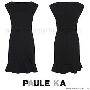 Princess Madeleine Style PAULE KA wool tricotine dress