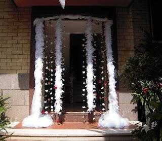 Debraflower amica degli sposi uscita della sposa - Come addobbare la casa della sposa il giorno del matrimonio ...