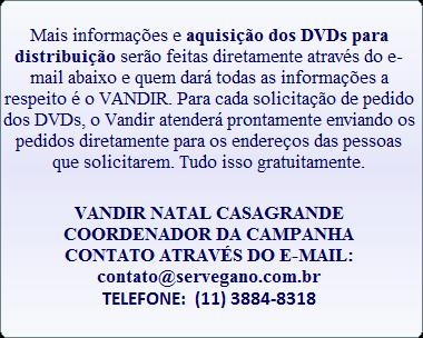DVDS GRATUITOS EM FAVOR DOS ANIMAIS