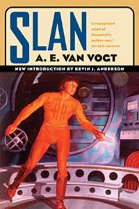 Cover image of the novel Slan by A E van Vogt