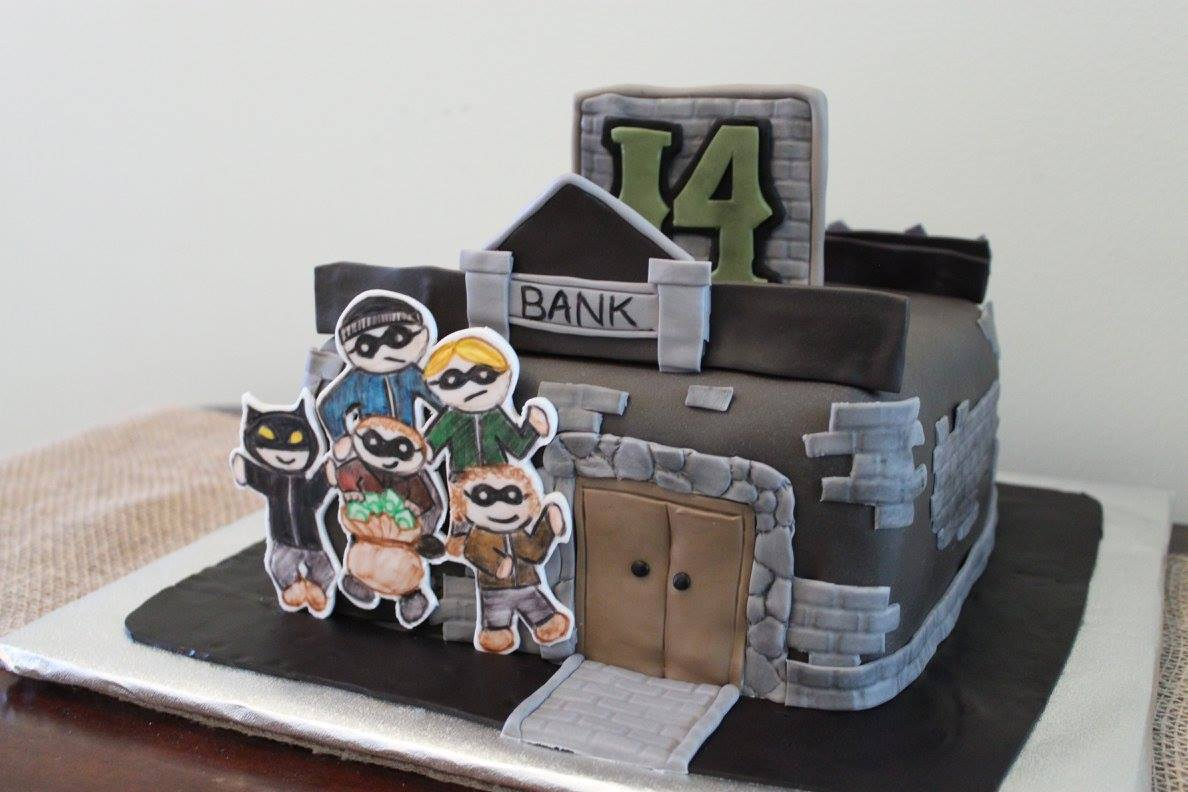 Layers Of Love Family Bank Robbery Cake