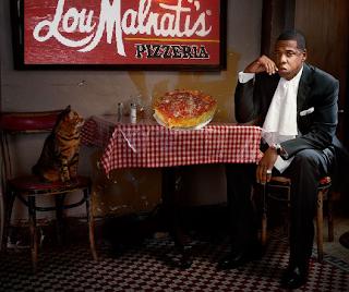 Jay-Z eating a Lou Malnati's