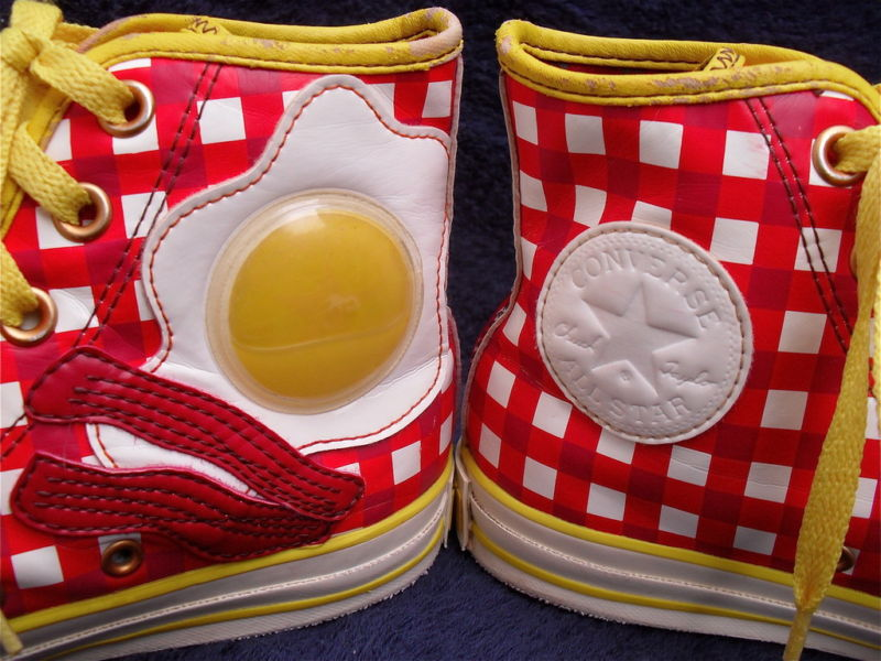 49bb018b5ab955 Awesome Breakfast Converse. You will only find one of these limited edition  converse up every year or so on the internet. Check them out!