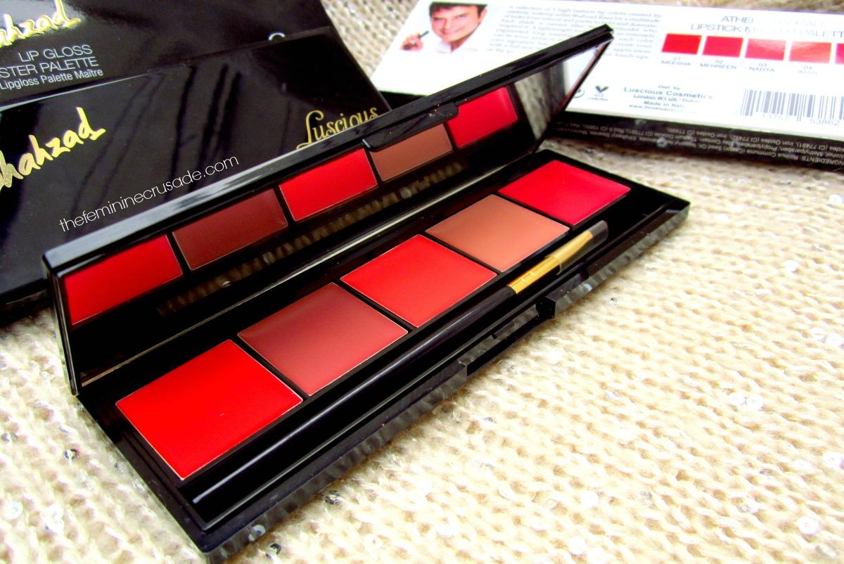 Luscious Ather Shahzad Master Lipstick Palette