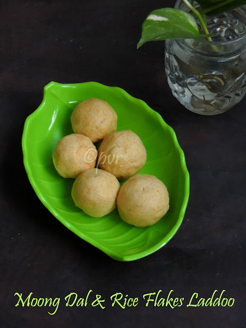 Moongdal & Rice flakes Laddoo