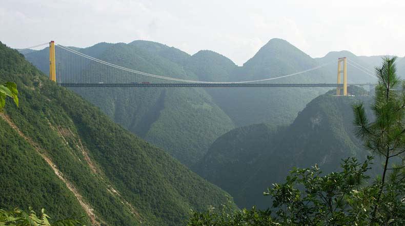 El Puente del Río Sidu, el puente más alto del mundo
