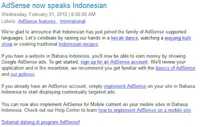 google adsense mendukung bahasa indonesia