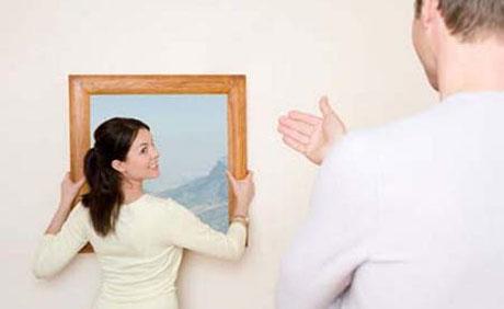 colgar cuadro en pared: