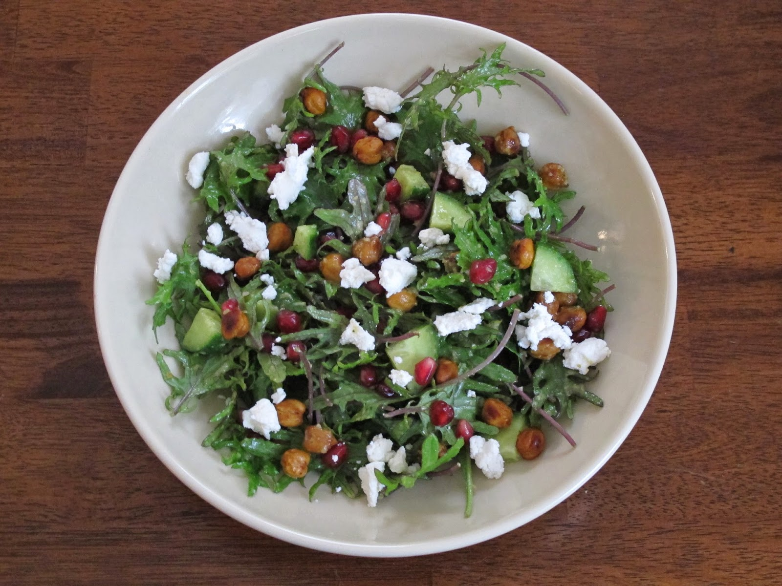 Sprouted Kitchen Greeny Salad with Roasted Jalapeno Dressing