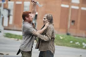 Scene from the walking dead