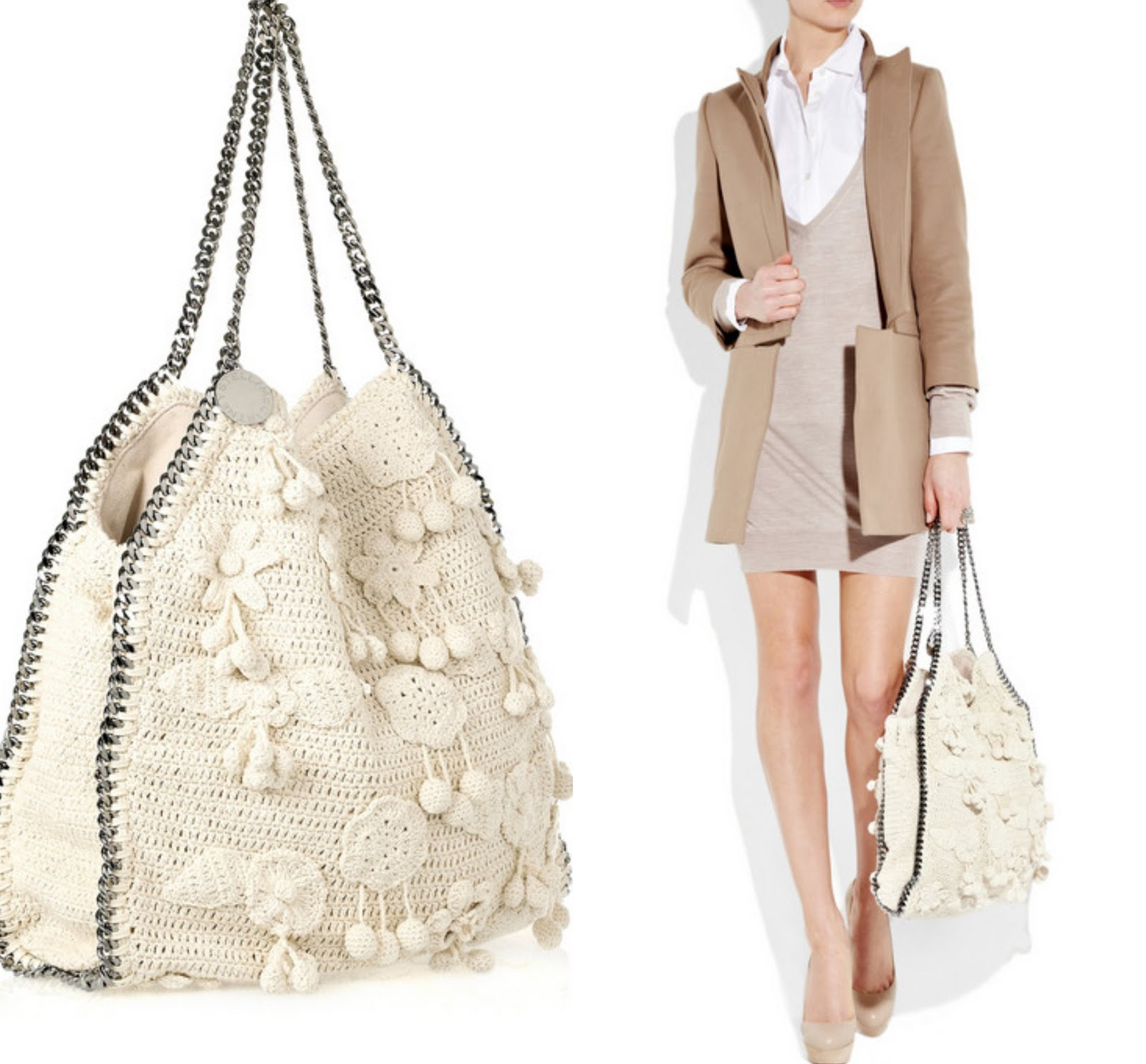 Designer Crochet Handbags : the falabella crochet bag is not only a designer bag