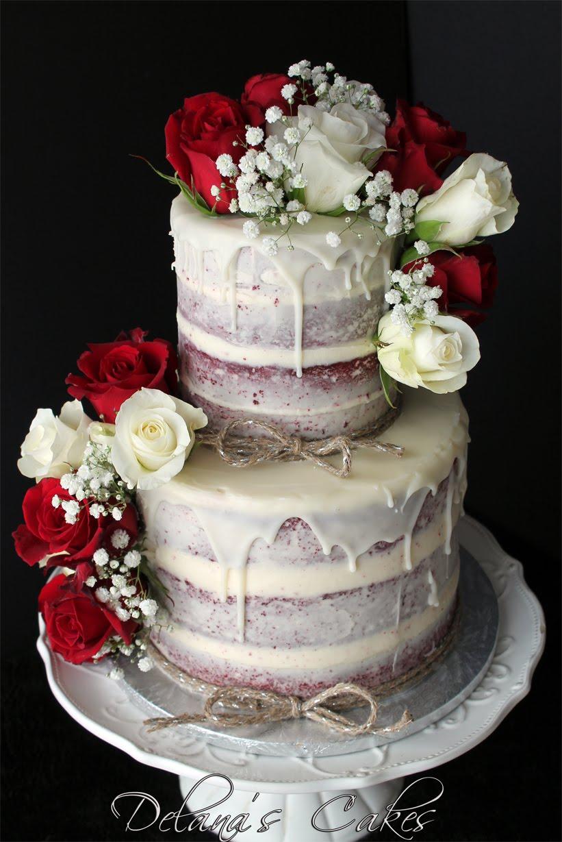 Delana\'s Cakes: Semi Naked Red Velvet Wedding Cake
