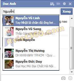 Hướng dẫn cách chat nhóm trên Facebook (FB) Group