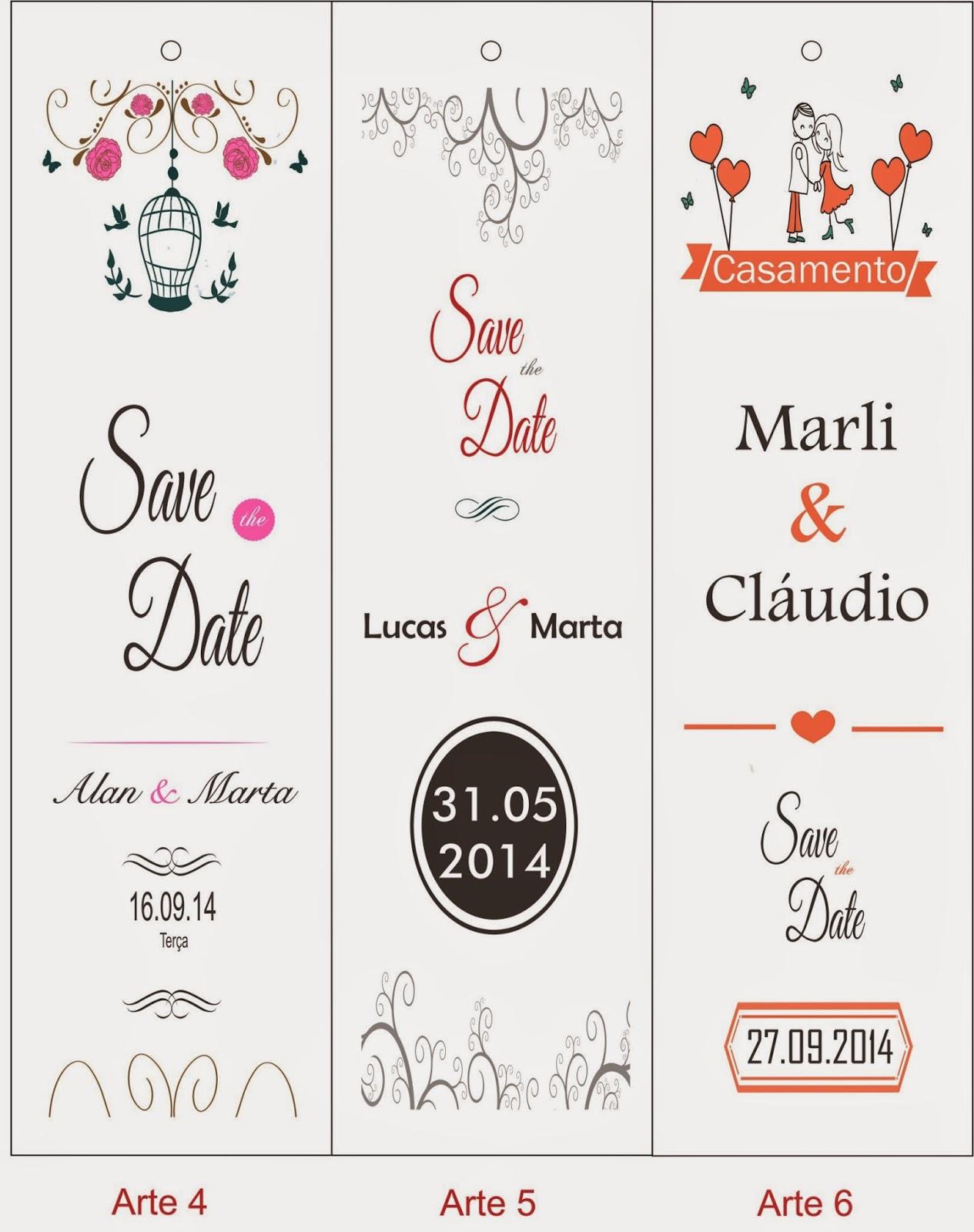 Convite Save the Date, Reserve a Data, Pré Convite