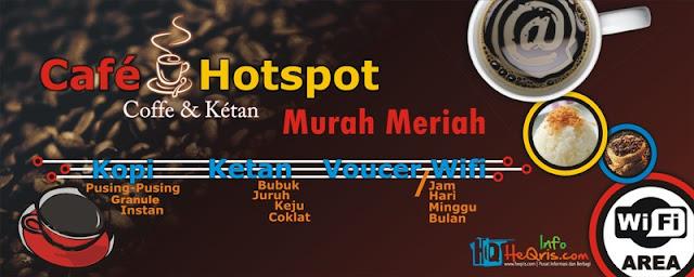 Reklame Banner Cafe Hostpot