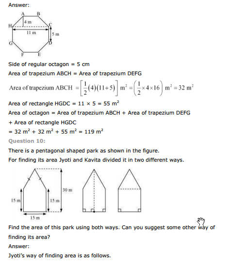 ncert text book solutions ncert solutions for class 8th maths chapter 11 mensuration exercise 11 2