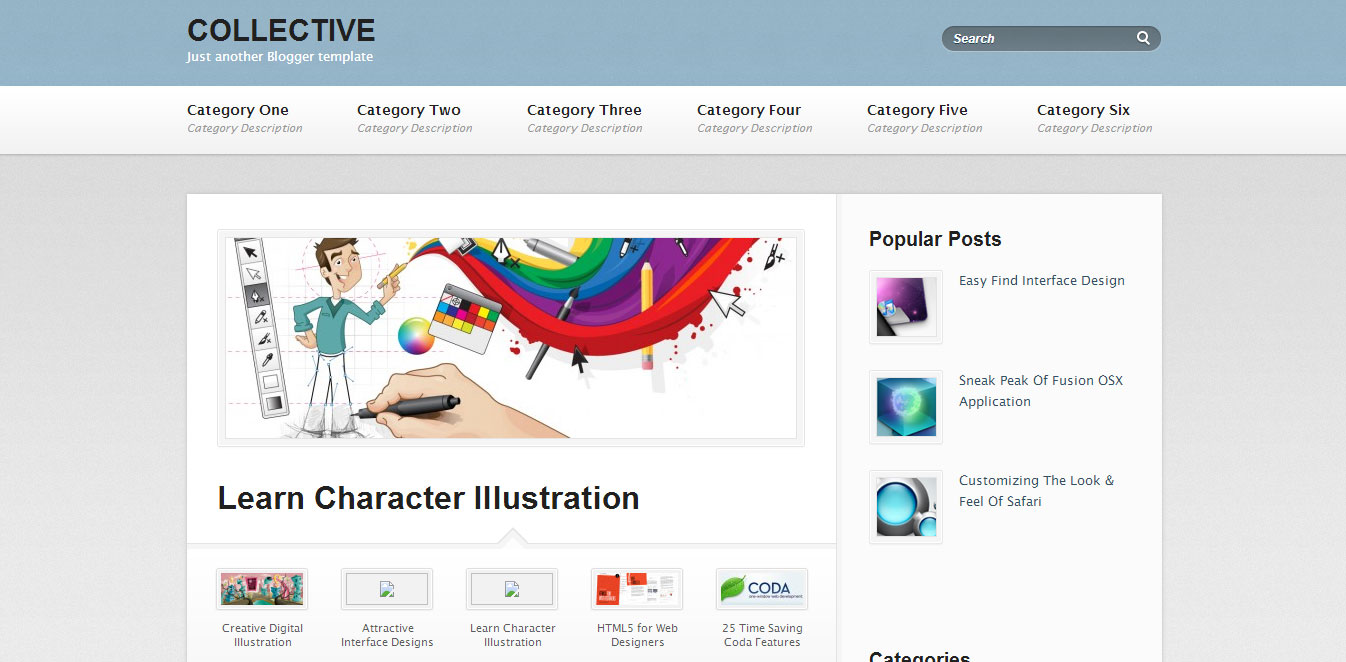 Template Blog Responsive Collective