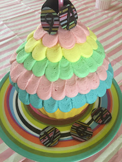 Giant Cupcake and homemade chocolate buttons
