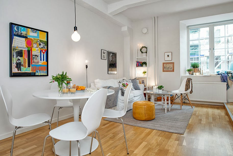 the orange deer vivere in un monolocale ma con stile. Black Bedroom Furniture Sets. Home Design Ideas