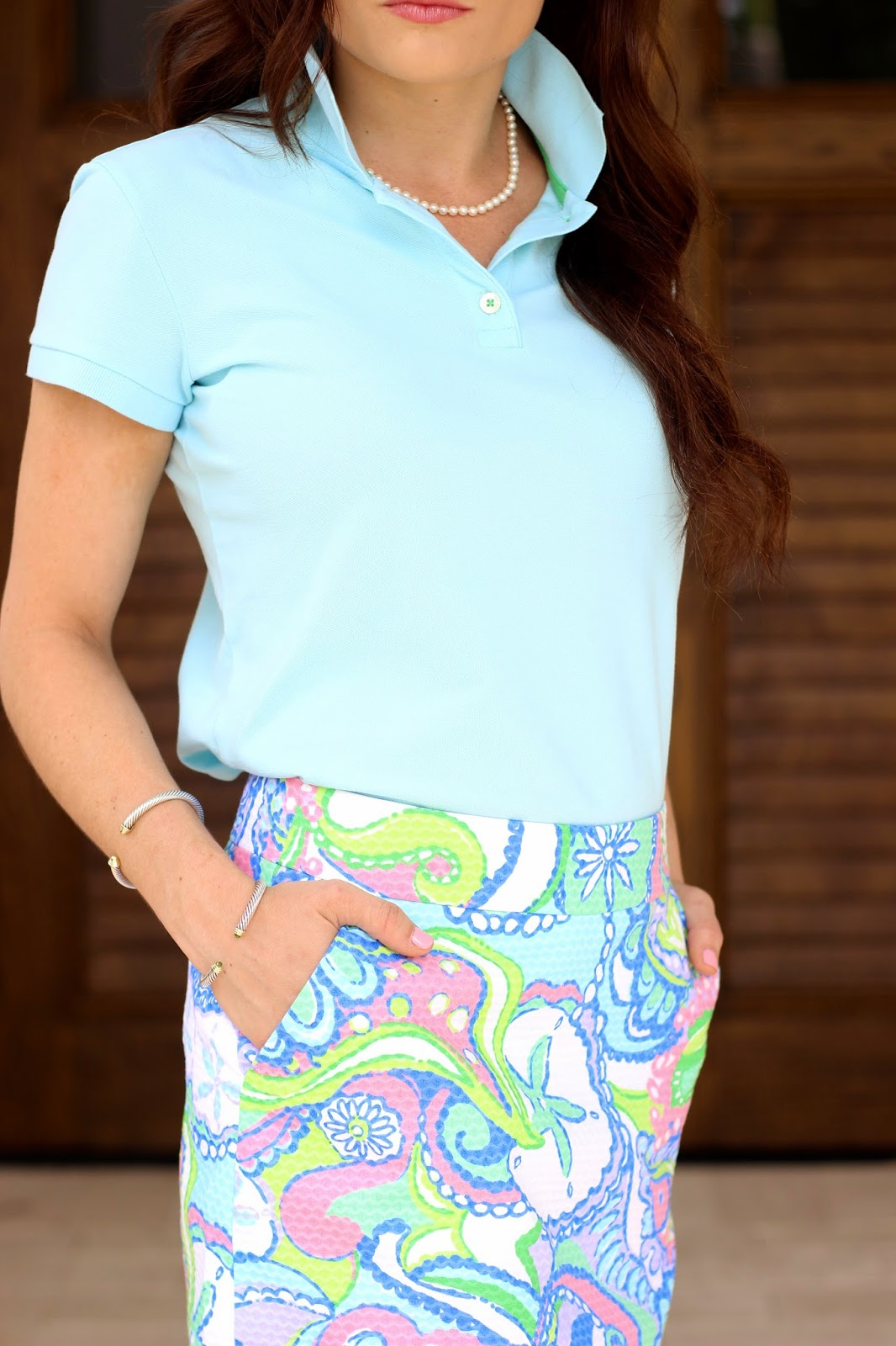 Preppy Lilly Pulitzer golf outfit