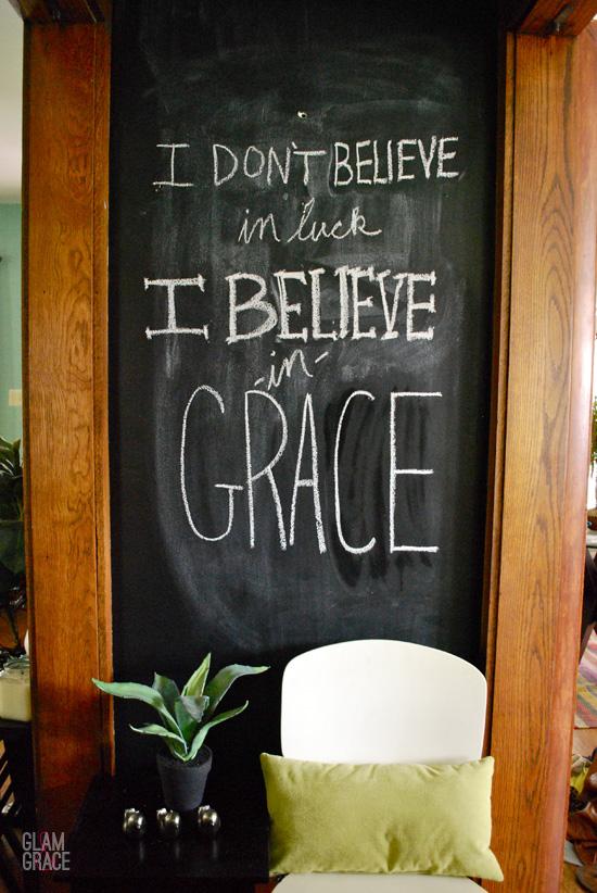 Chalkboard wall - Grace