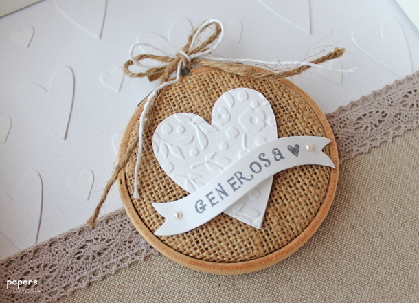Crafting ideas from sizzix uk a little embroidery hoop in