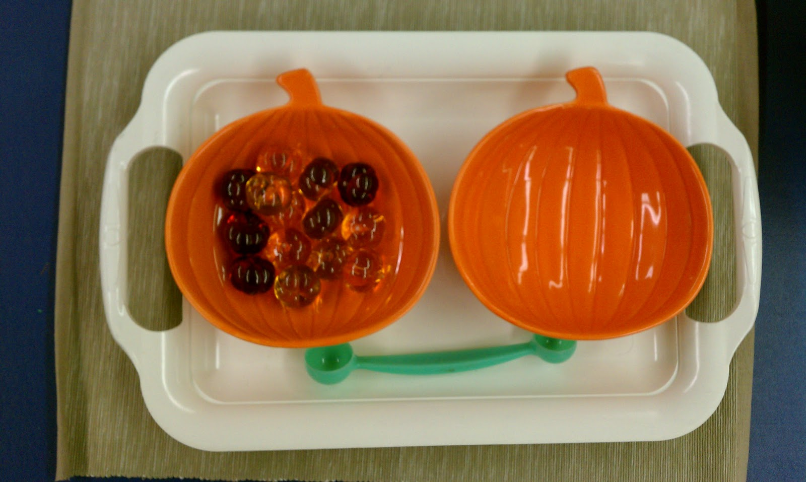 spooning plastic pumpkins i found the pumpkin bowls in the target dollar section and the plastic pumpkins at michaels - Plastic Pumpkins