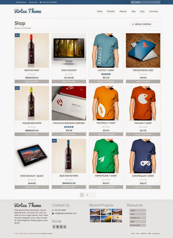 Free E-commerce WordPress Themes 2014