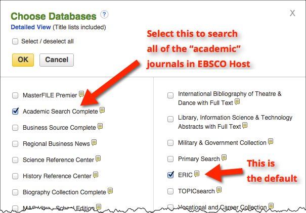 ebsco paper 2 Education, health education and testing this database also includes full text  for books, monographs and numerous education-related conference papers.